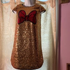 Disney Minnie Mouse sequin dress.Girls 9/10.NWOT
